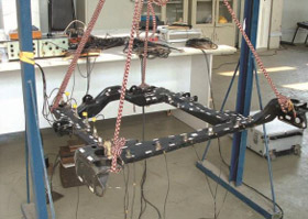 Buick sub-frame structure modal test