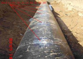 Monitoring for pigging process of oil West-East gas pipelines
